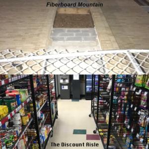 Fiberboard Mountain // The Discount Aisle Album Cover