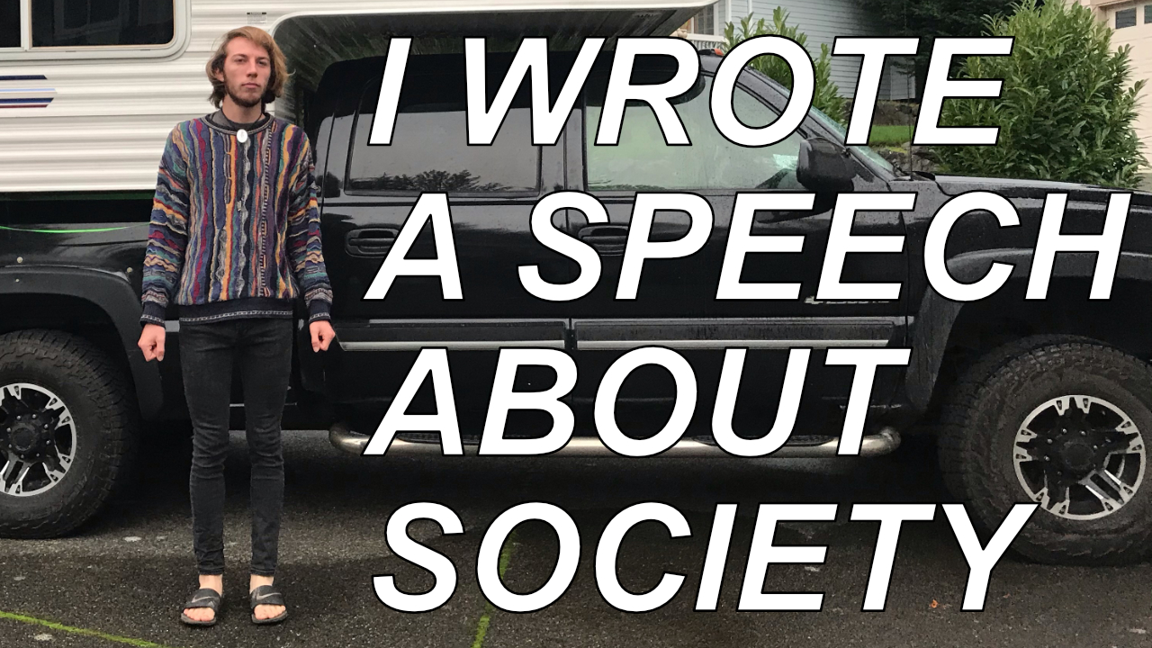 I wrote a speech youtube cover